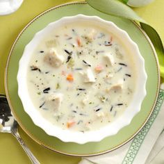 Turkey Wild Rice Soup Recipe   Taste of Home Recipes My notes: Really good Thanksgiving leftover recipe. I used 5 cups of turkey stock that I made from the turkey carcass. Also added some dry thyme to the soup.