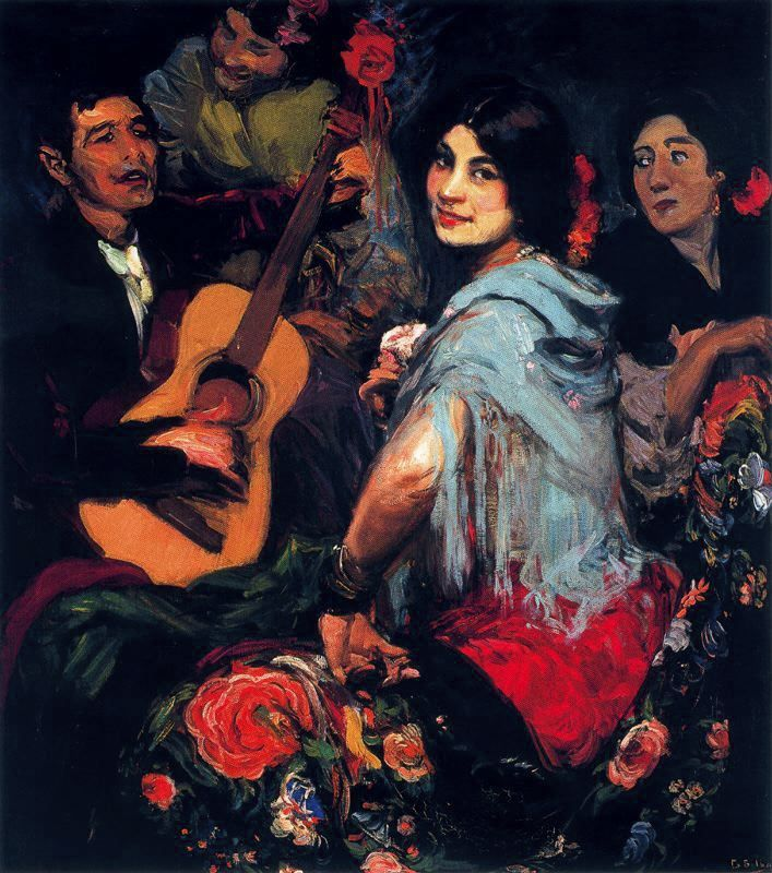La juerga lienzo 121 x 106 cm autor gonzalo bilbao - Pintores en bilbao ...