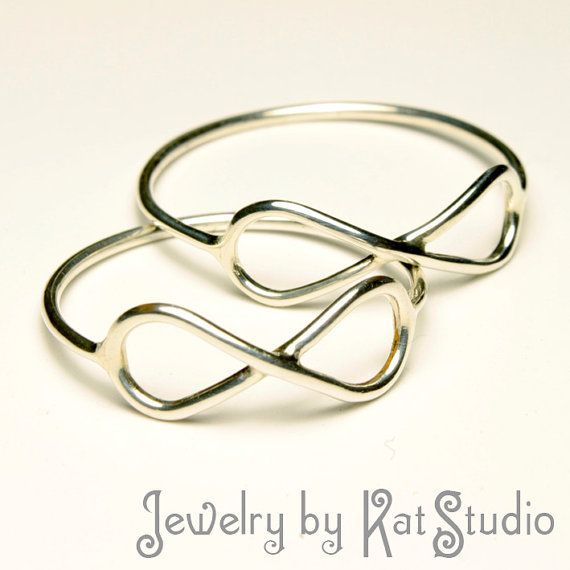 Set of Two Rings  Infinity  Sterling Silver 925  Gift by Katstudio, $30.00