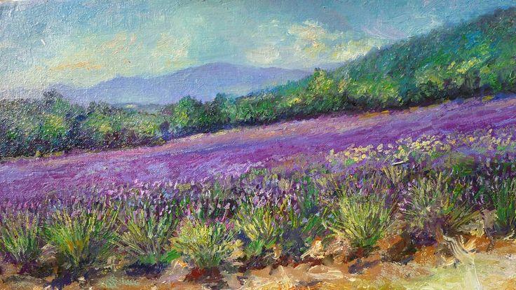 lavandes baudinard verdon-tableau paysage de provence