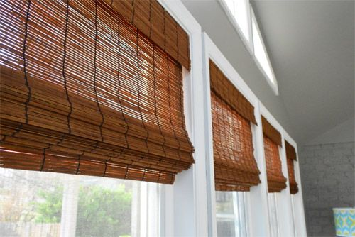 Young House Love | It's Gettin Hot In Hur, So Add Some Bamboo Blinds | http://www.younghouselove.com