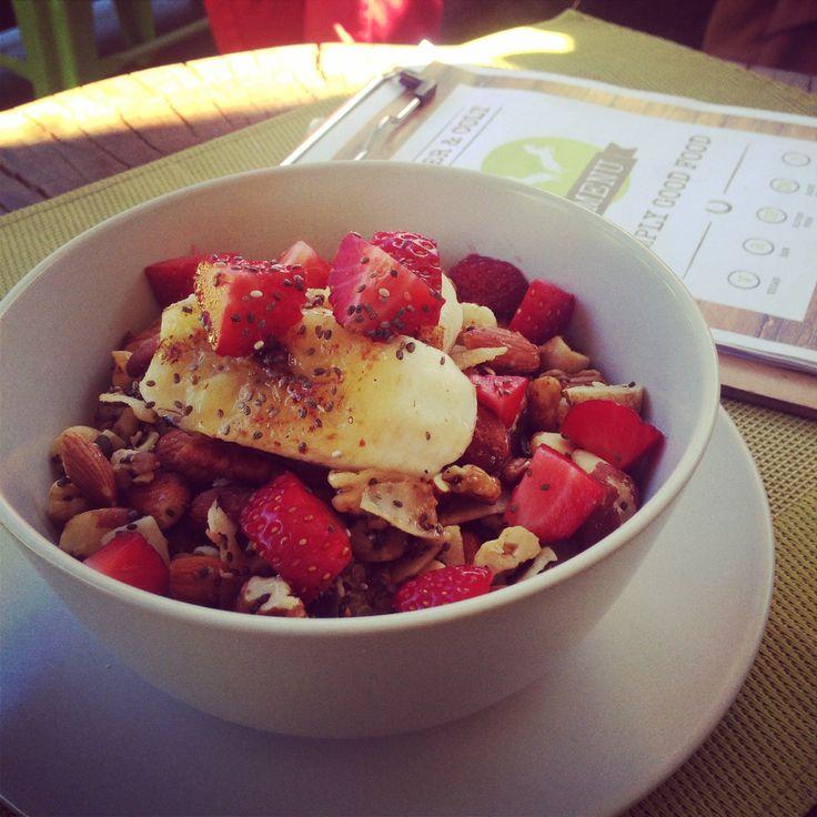C&C Granola bowl with Coyo!! #Organic #housemade #granola #berries #glutenfree #coyo #dairyfree