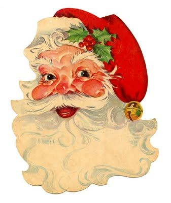 Free Vintage Clip Art - Santa, Santa, Santa! - The Graphics Fairy: