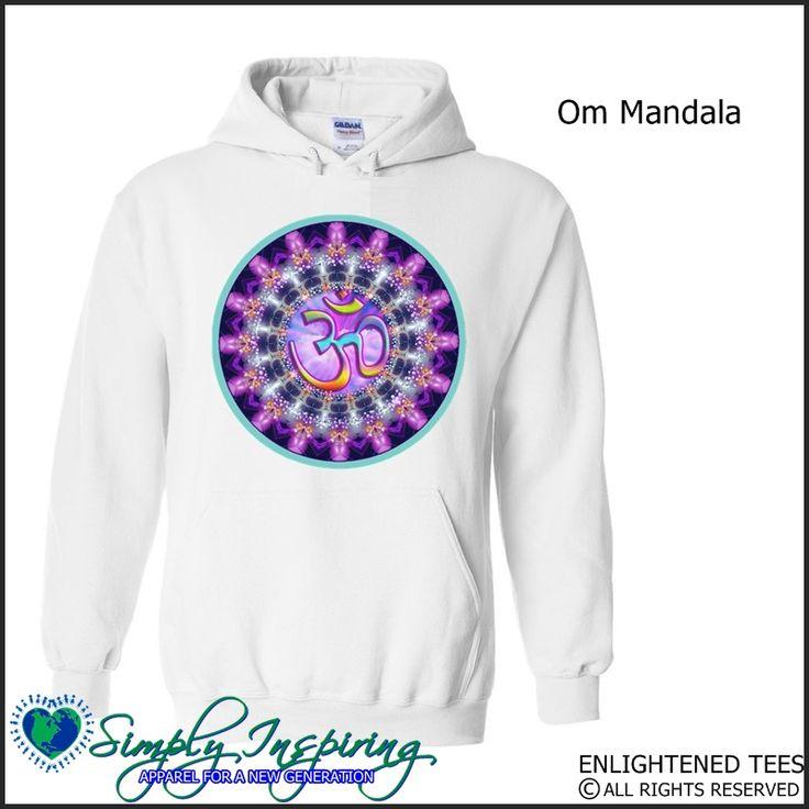 Om & Mandala Symbol Enlightenment New Age Hoody Sweatshirt white