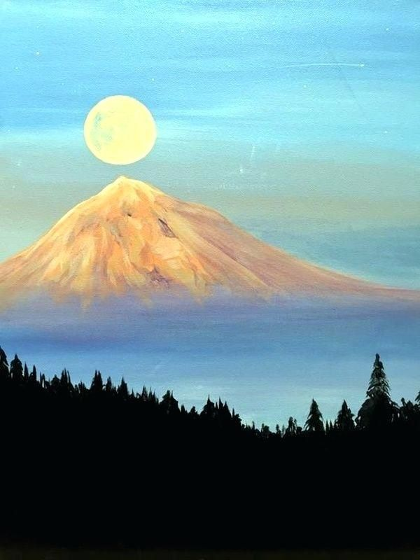 60 Easy And Simple Landscape Painting Ideas Easy Landscape Paintings Landscape Paintings Easy Canvas Painting