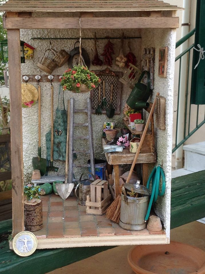 25 best ideas about dollhouse miniature tutorials on for Mini potting shed