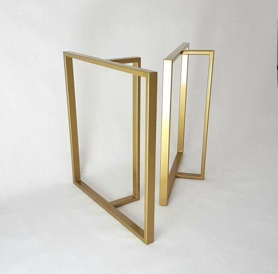 Thick Industrial U Shape Metal Table Legs 4x2 Etsy In 2020 Metal Table Metal Table Legs Steel Table Legs