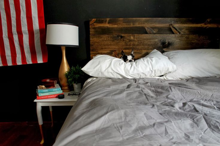 radical possibility: THE EASIEST RUSTIC HEADBOARD EVER
