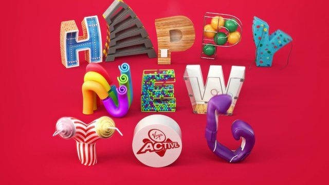 """VIRGIN ACTIVE - Happy New You! Virgin Active asked us to produce this fun 30 sec commercial wishing their existing and potential members a """"Happy New You"""". The animation will be used in a promotional campaign they are running and will be released in cinema, online and digitally. From Lucan Visuals"""