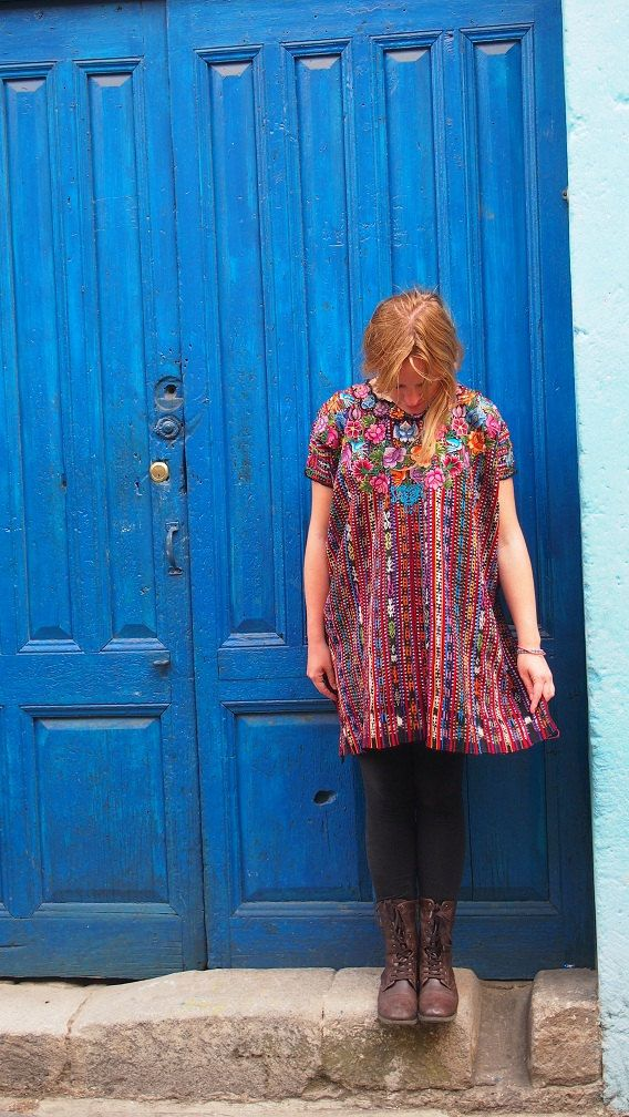 Stunning Handmade One-of-a-Kind Huipil Tunic - Handmade in Guatemala - Guatemalan Fabric - 100% Cotton - Free U.S. Shipping - Trama Textiles