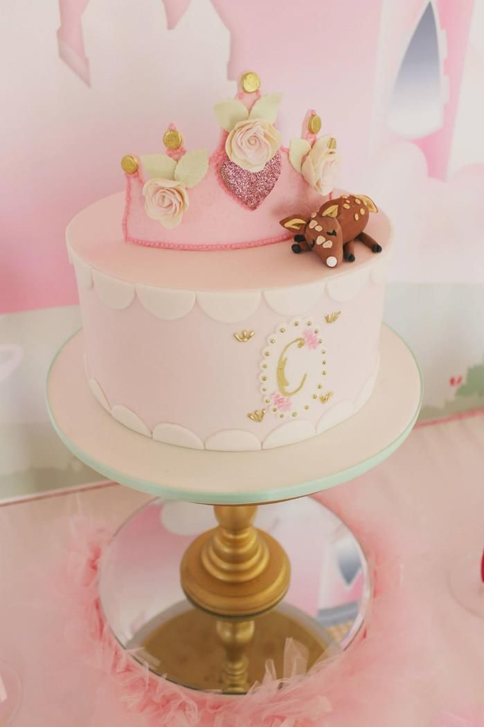 GORGEOUS cake at a Princess Party with So Many Darling Ideas via Kara's Party Ideas | KarasPartyIdeas.com #Princess #Party #Ideas #Supplies #princesscake
