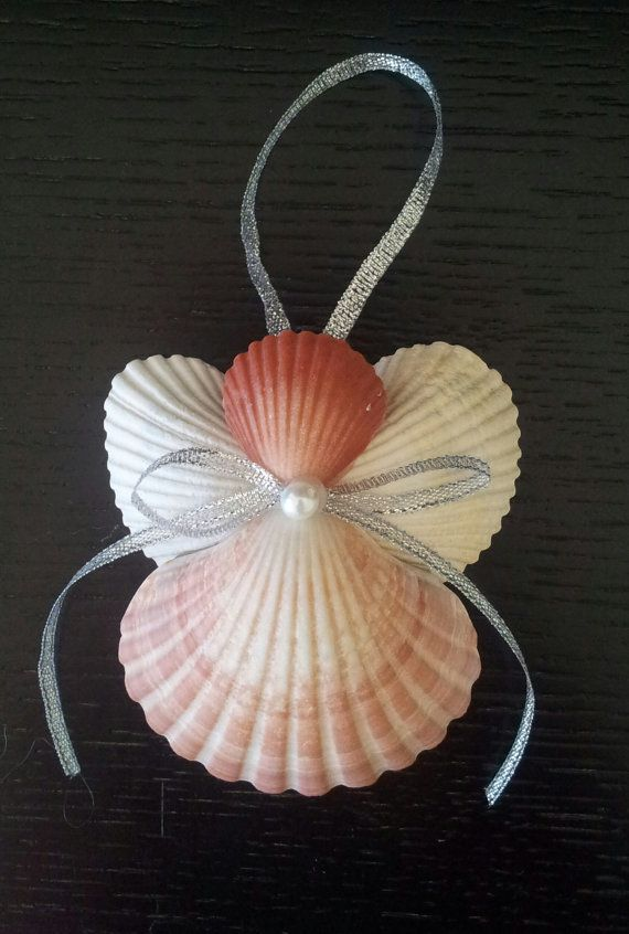 Seashell Angel, Beach Ornament, Angel Ornament, Beach Decor, Gift, Christmas Decoration, Angel Decoration