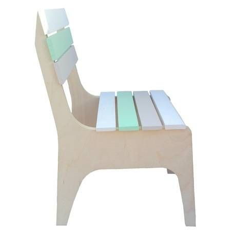 Handcrafted Reclaimed Timber Toddler Chair - Mint/White/Grey by RAW Sunshine Coast