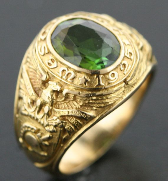 Tiffany  Co West Point Class Ring Dated 1925 in 18k