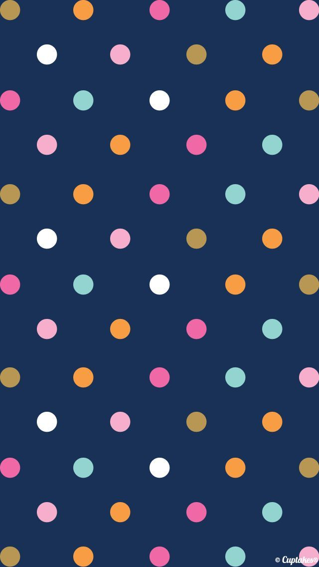 Polka dots. Check out 9 Lovely Pattern Wallpapers for iPhone 5/5s and iPhone 6/6 Plus. - @mobile9 #pattern #backgrounds