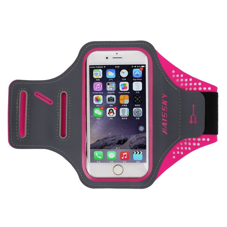 "HAISSKY 5.5"" Sport Armband for Iphone 7 Plus 6 Plus 6S Plus for Samsung Galaxy Note 3 Note 4 Note 5 S6 Edge Plus S7 Edge (Red). Compatibility: Apple iPhone 6 Plus 6s plus 7 Plus Samsung Galaxy Note 3 Note 4 Note 5 S6 Edge S7 Edge. Suitability: Sports as marathons, cycling, climbing, jogging and so on. It is lightweight and slim with comfortable elastic fabric. Adjust: Double buckles and Velcro band help adjust tightness flexibly, suitable for arm circumference: 9 to 15 inches (23-38cm)...."