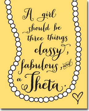 Classy Fabulous Theta - Sorority posters from Truly Sisters