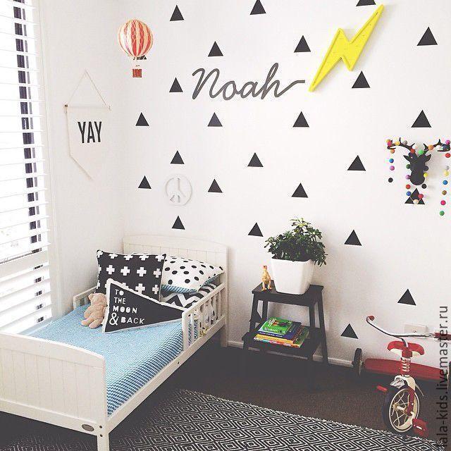 Купить Наклейки для стен треугольники - наклейки для стен, виниловые наклейки, скандинавский стиль, скандинавский узор