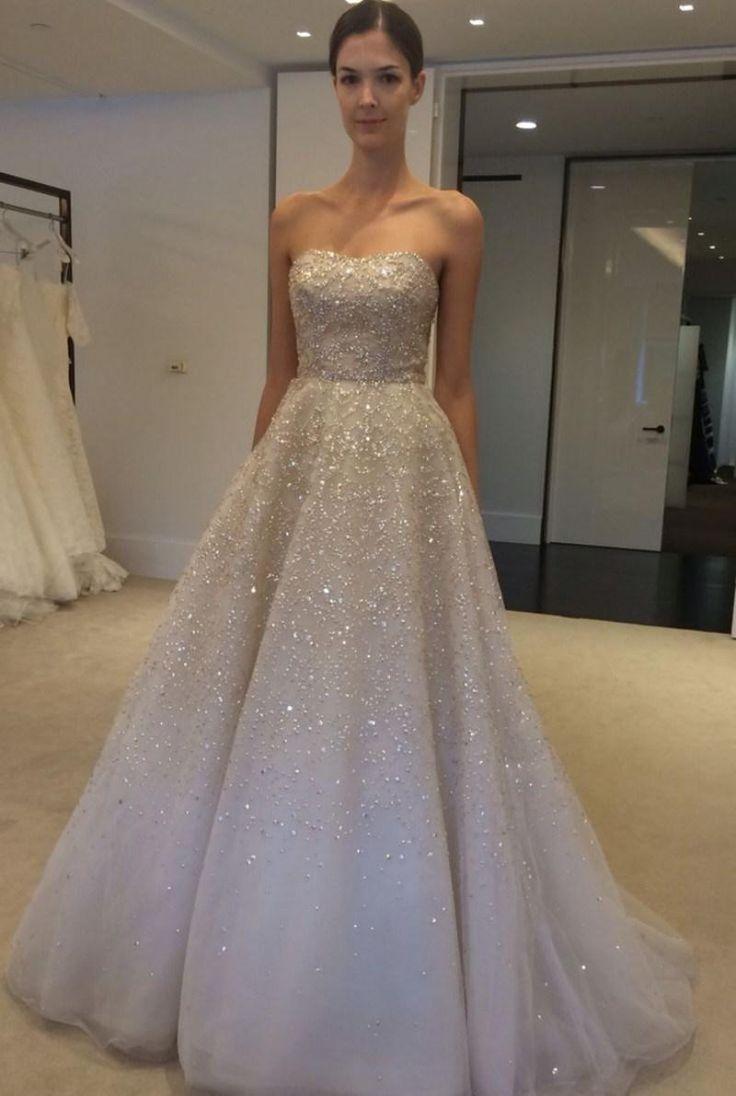 Real Image Wedding Dresses 2015 Spring Ivory Sequins Beads Strapless Bateau Sleeveless Bridal Ball Gowns Custom Made Vestido De Novia, $130.62   DHgate.com
