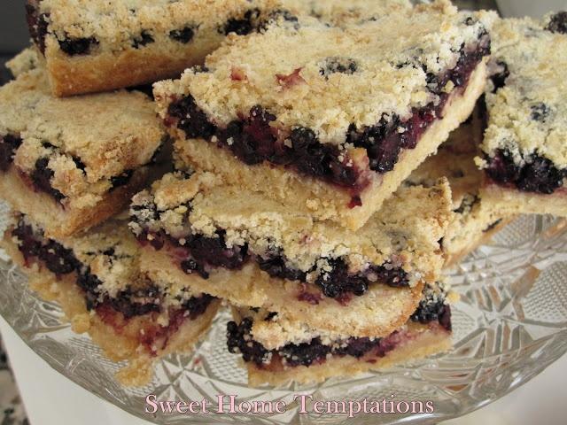 Mulberry Shortbread, bocaditos de mora