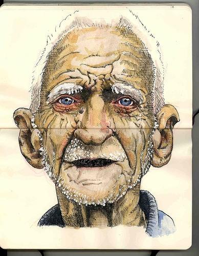 http://khrisnaresa.wordpress.com/Journals Inspiration, Prints Art Illustration, Moleskine Artists, Old Faces Paintings, Art Journals, Art Ideas, Moleskine Sketches, Moleskine Art Será, Journals Art