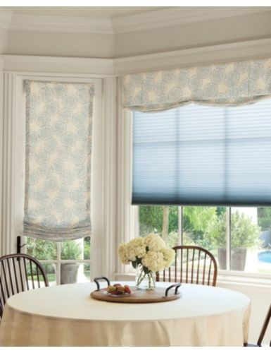 New luxe linen 3 4 light filtering honeycomb shades in for Linen shades window treatments