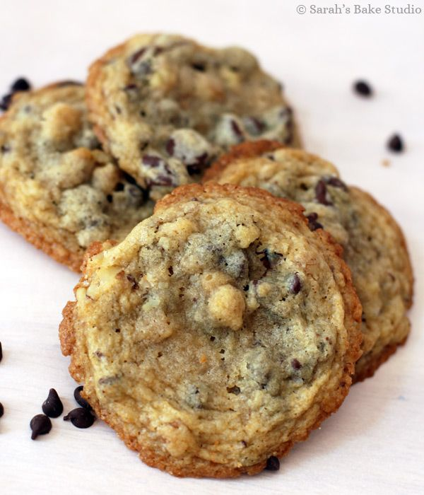 Crisp Chocolate Chip Cookies - crisp around the edges, soft in the ...