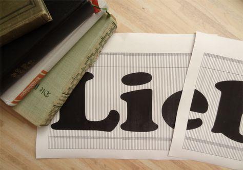 DIY-Anleitung wie man sich eine Vorlage fürs Bücher falten (Orimoto) selbst erstellen kann. Die Schritt-für-Schritt Anleitung geht dabei nur auf Schriftzüge ein.