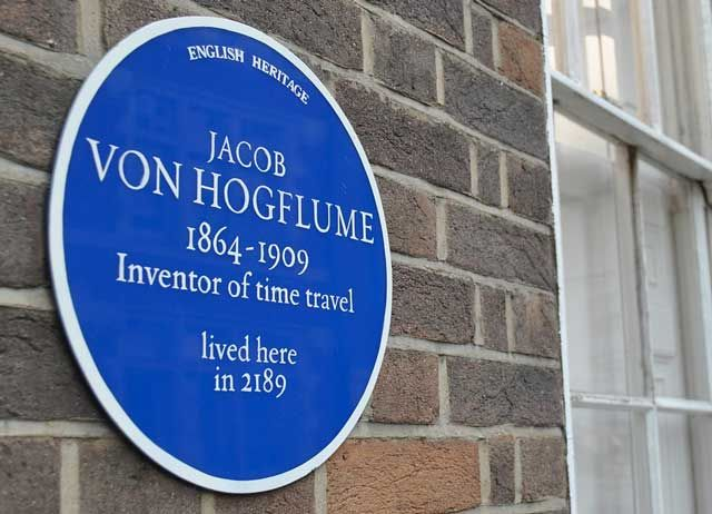 Jacob von Hogflume - the original time traveller. See http://triviasa.co.za/2014/06/06/famous-time-travellers/