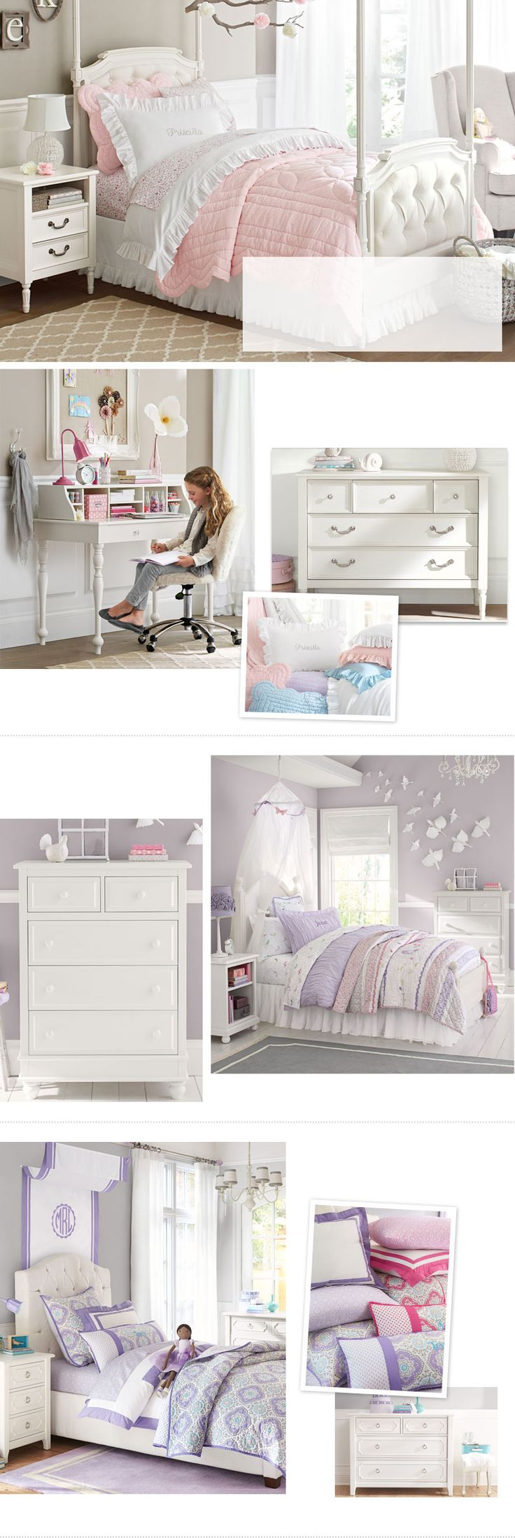 Bedrooms for girls purple and white - Girls Bedroom Ideas Girls Room Ideas Pottery Barn Kids