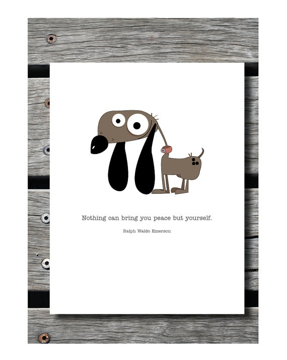 Peaceful Dog greeting card by JAQUELINEB on Etsy, $3.00