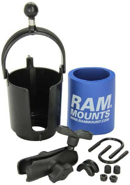 1 RAM Mount RAM-B132R Drink Cup Holder with U-Bolt Base  >> The 10 Best Motorcycle Cup Holders For Bikers