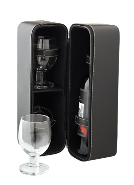 Victoria's Basement, Benzer Hunter Collection Wine Bottle Box With 2 Wine Glasses, $39.95, Shop B, Lower Ground, QVB.