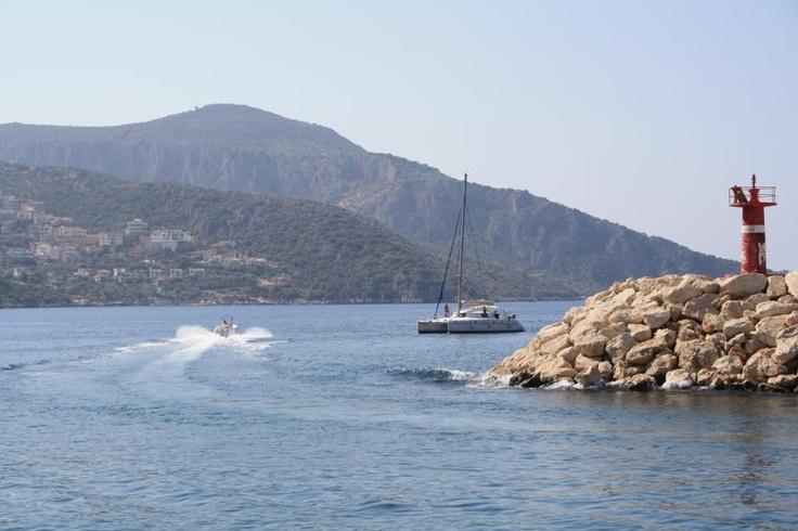 Speedboat leaving Kalkan Harbour