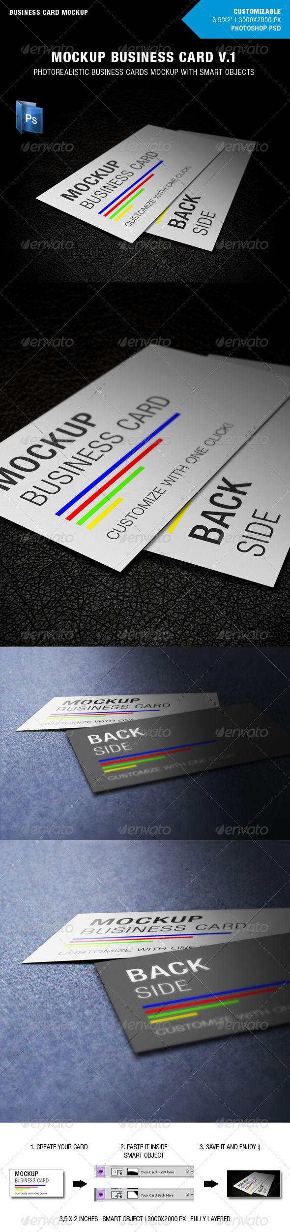 718 best business card mockup images on pinterest miniatures mockup business card v1 reheart Images