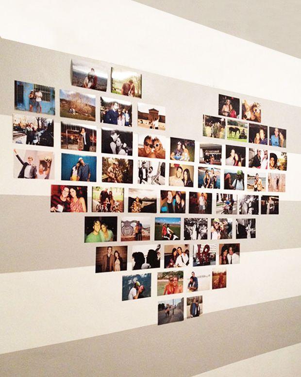 montagem de fotos em forma de cora o dia dos namorados pinterest au enbereich hochzeit. Black Bedroom Furniture Sets. Home Design Ideas