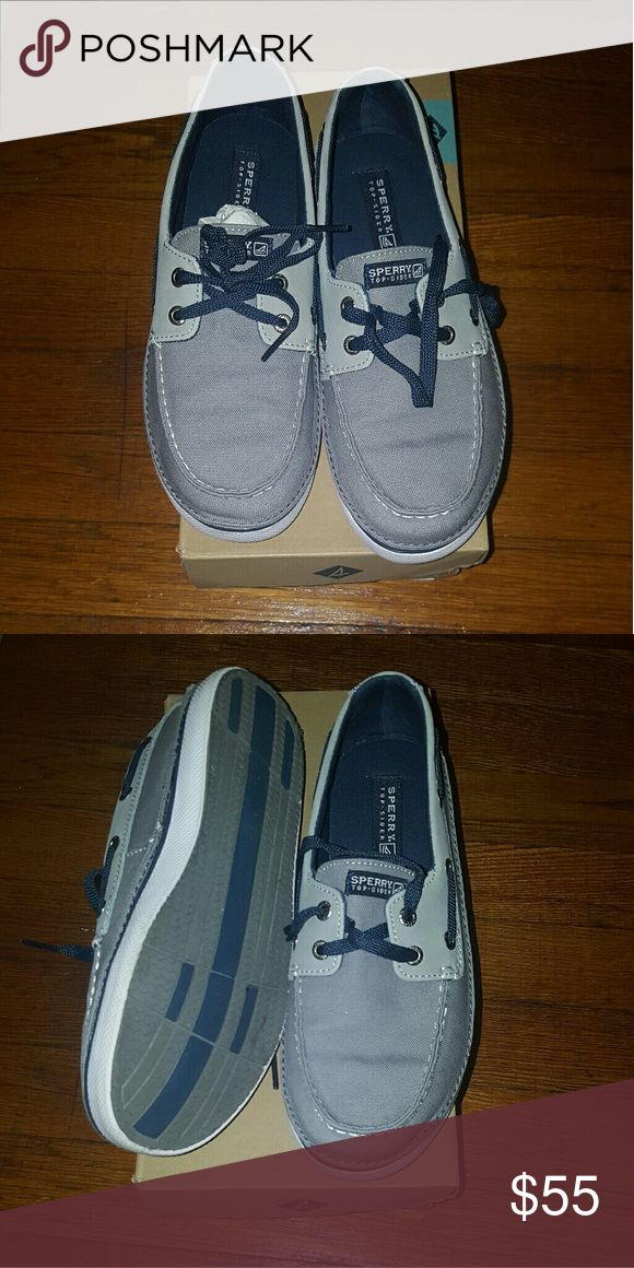 BRAND NEW Boys Sperry boat shoes Brand new in box blue boat shoes. If you would like it shipped without the box just include in offer. Sperry Shoes
