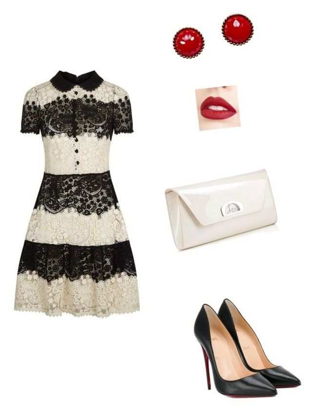Untitled #1 by iioanak on Polyvore featuring polyvore moda style RED Valentino Christian Louboutin Jouer fashion clothing