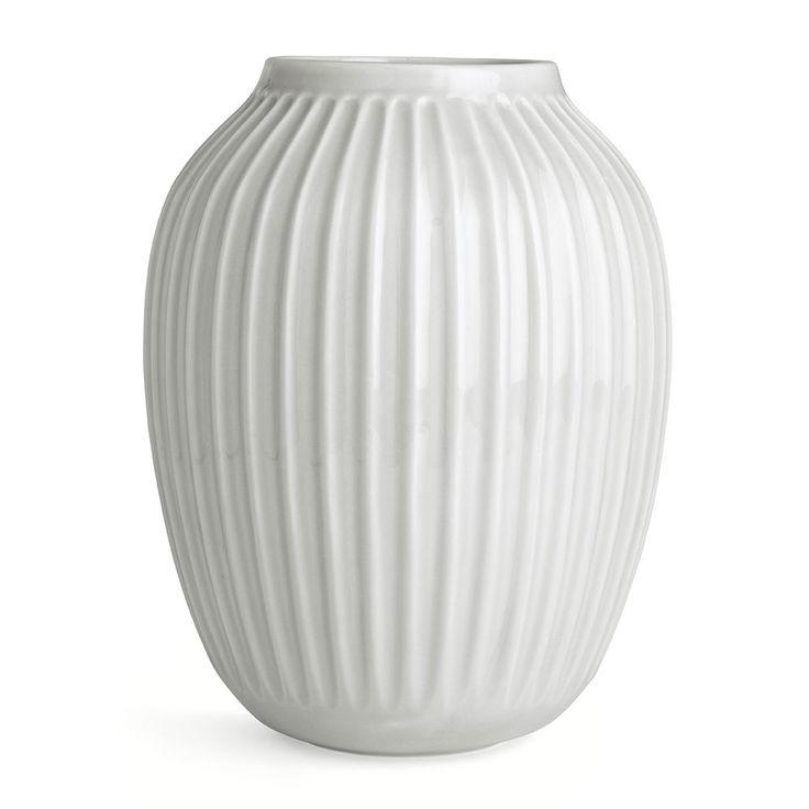Hammershøi+Vase+H25cm,+Hvit,+Kähler