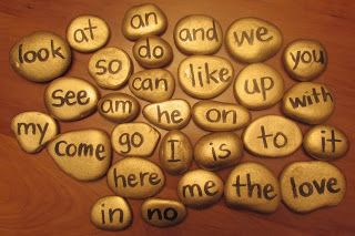 Good as Gold Sight Words ~ Do it yourself with rocks and gold paint. Could this be the gold at the end of the rainbow?  (Fun and inspiring blog full of free ideas.)