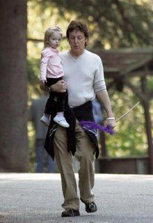 Paul McCartney and Beatrice McCartney