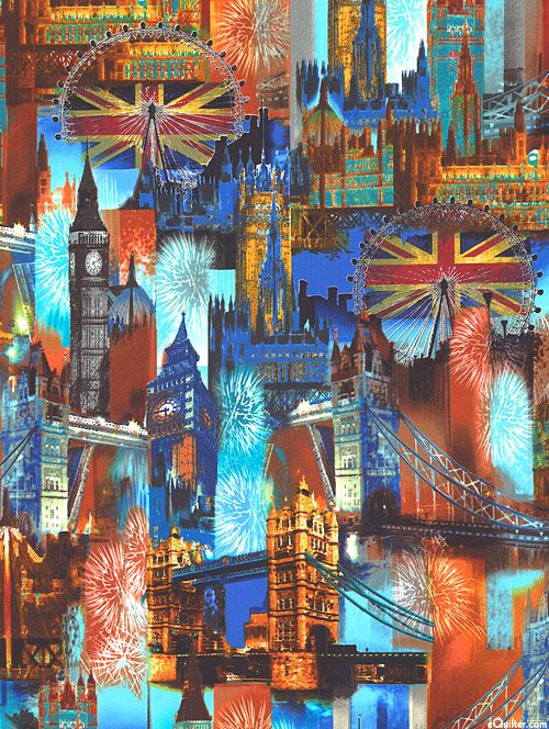 Cityscapes - City of London - Quilt Fabrics from www.eQuilter.com