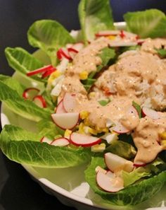 Classic Crab Louie salad with the perfect homemade dressing