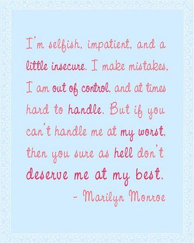Marilyn Monroe...love