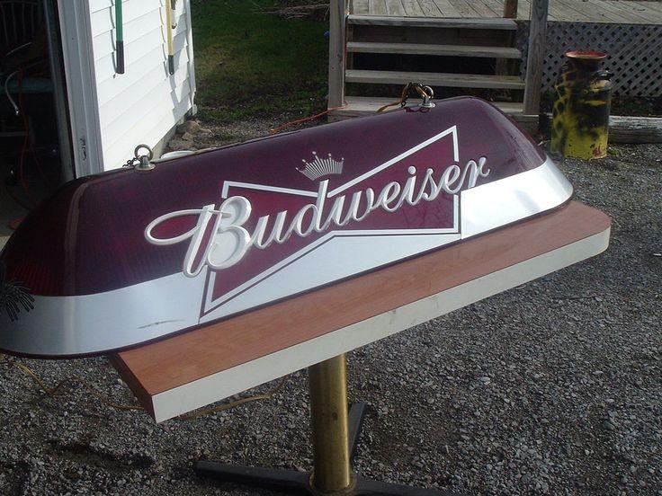vintage budweiser pool table light 4 39 6 long man cave garage. Black Bedroom Furniture Sets. Home Design Ideas