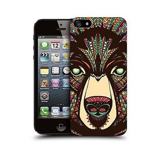 Artistic Colorful Bear Design Back Case for Iphone 5/5s #ChinaBrand