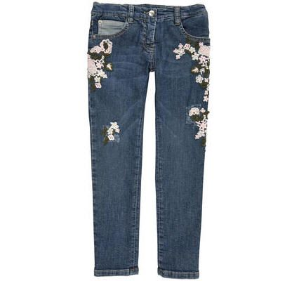 Jeans Fille Melijoe, achat Ermanno Scervino Junior Jean 'slim fit' en denim stretch bleu stoné Denim - prix promo Melijoe 180.00 €