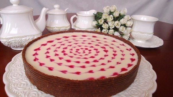 Cake without baking with marshmallow cream
