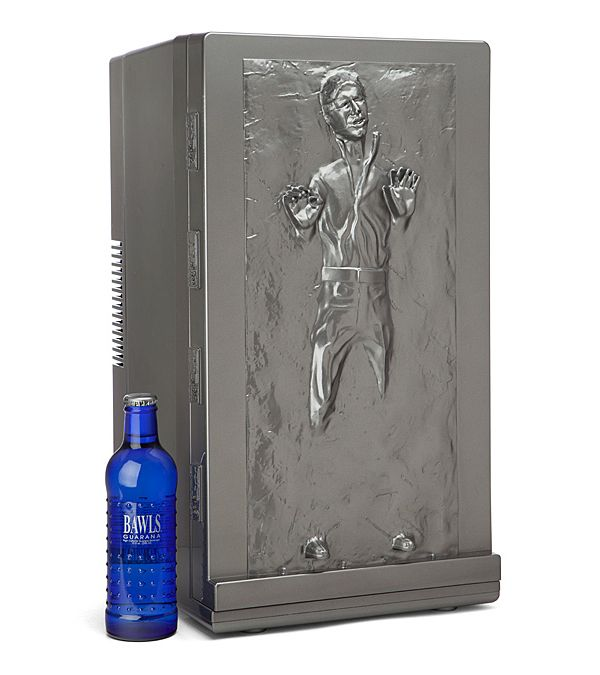 A 'Star Wars' Han Solo Frozen in Carbonite Fridge That Can Hold Up to 18 Cans of Soda