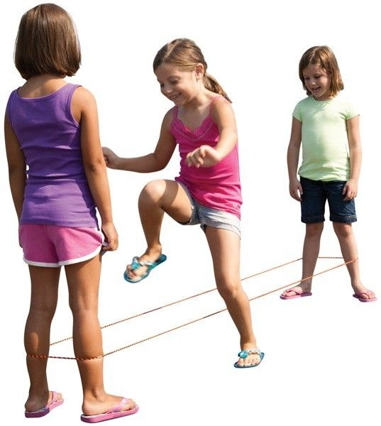 Chinese Jump Rope...  My favorite!  I used chair legs when no one was around to play with me!